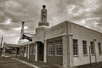 Photograph - Route 66 Conoco by Ricky Barnard