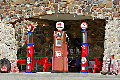 Oil Pump Photograph - Route 66 - Cool Springs Camp Az by Christine Till