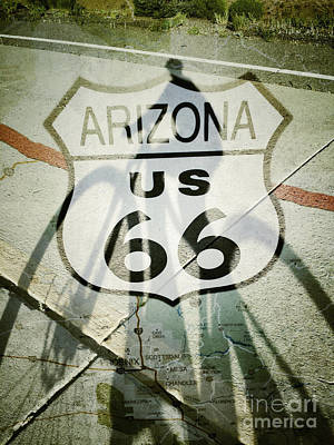 Photograph - Route 66 Cycling by Marianne Jensen