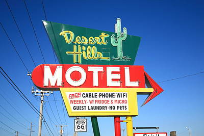 Photograph - Route 66 - Desert Hills Motel by Frank Romeo
