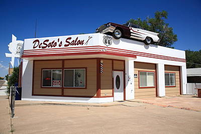 Photograph - Route 66 - Desoto's Salon by Frank Romeo