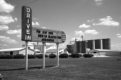 Route 66 Drive-in Theater Art Print by Frank Romeo