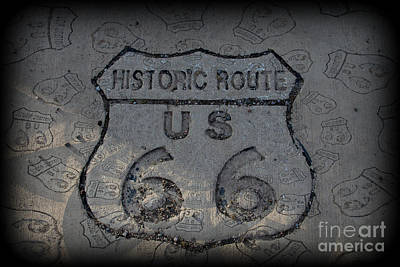 Photograph - Route 66 Emblem by Jim McCain