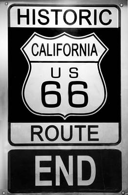 Route 66 End Art Print