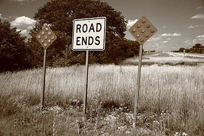 Photograph - Route 66 - End Of The Road by Frank Romeo