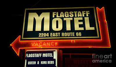 Route 66 Flagstaff Motel Art Print by Bob Christopher