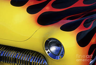Route 66 Flaming Rod Art Print by Bob Christopher