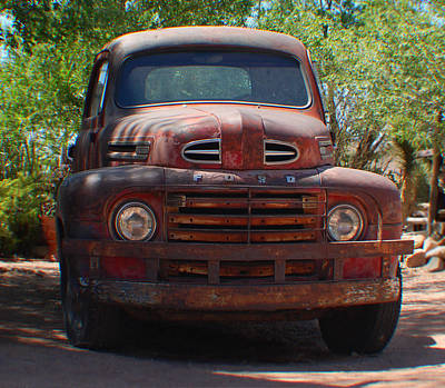 Photograph - Route 66 Ford Truck by Leticia Latocki
