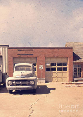 40s Photograph - Route 66 Garage by Edward Fielding