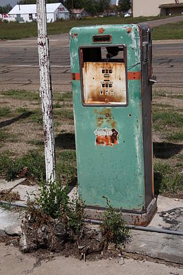Route 66 Gas Pump - Adrian Texas Art Print by Frank Romeo