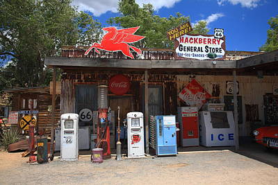 Pegasus Photograph - Route 66 - Hackberry General Store by Frank Romeo