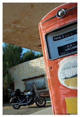 Photograph - Route 66 Harley by Keith May