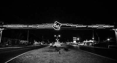 Photograph - Route 66 In Black And White by Anthony Doudt