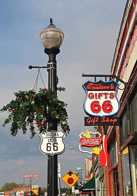 Photograph - Route 66 In Williams Arizona by Denise Mazzocco