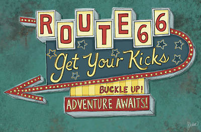 Route 66 Painting - Route 66 by Jacqueline Decker