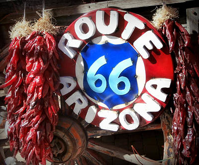 Ristra Photograph - Route 66 by Karyn Robinson