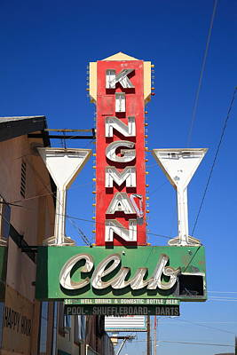 Photograph - Route 66 - Kingman Club by Frank Romeo
