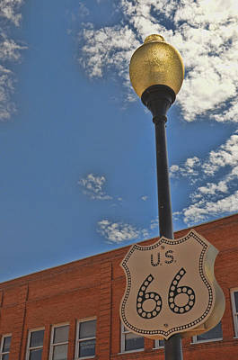 Photograph - Route 66 Light Post by Jeanne May