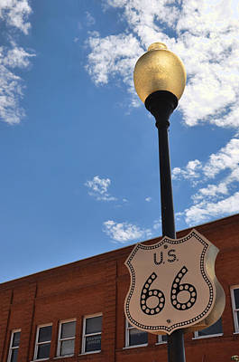 Photograph - Route 66 Light Post Vivid by Jeanne May