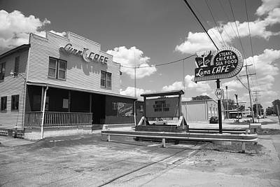 Photograph - Route 66 - Luna Cafe by Frank Romeo