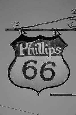 Mural Photograph - Route 66 - Phillips 66 Petroleum by Frank Romeo