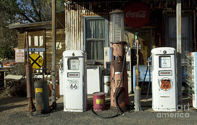Route 66 Pumps Art Print by Bob Christopher