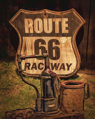 Prescott Digital Art - Route 66 Raceway by Priscilla Burgers