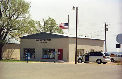 San Jon New Mexico - Post Office Art Print by Frank Romeo