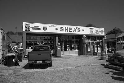 Photograph - Route 66 - Shea's Filling Station by Frank Romeo