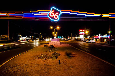 Photograph - Route 66 Sign by Anthony Doudt