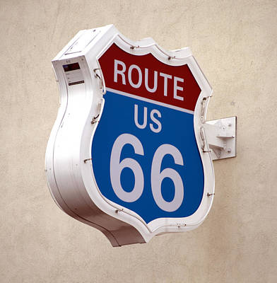 Photograph - Route 66 Sign At Fisherman's Wharf by Christopher Winkler