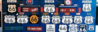 Memorabilia Photograph - Route 66 Sign Collection by Panoramic Images