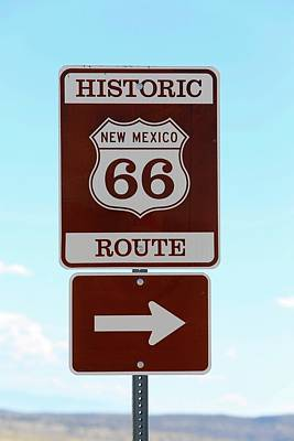 Route 66 Photograph - Route 66 Sign by Michael Szoenyi