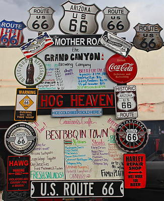 Photograph - Route 66 Signs by Denise Mazzocco