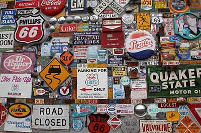 Route 66 Signs Art Print by Lynn Sprowl