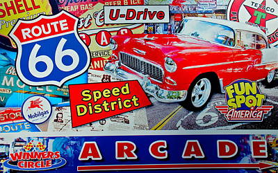 Photograph - Route 66 Speed District by Denise Mazzocco
