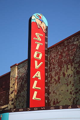 Mural Photograph - Route 66 - Stovall Theater by Frank Romeo