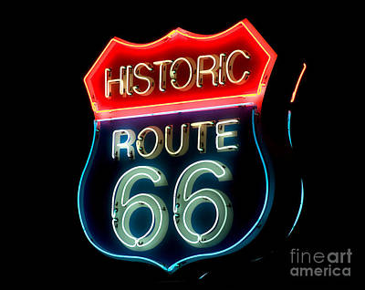 Route 66 Art Print by Theodore Clutter