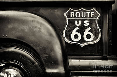 Nostalgic Sign Photograph - Route 66 by Tim Gainey
