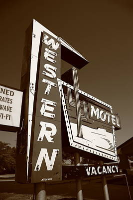 Photograph - Route 66 - Western Motel 4 by Frank Romeo