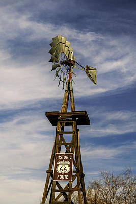 Photograph - Route 66 Windmill by Kim Swanson