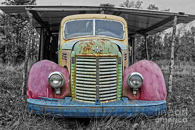 Art Print featuring the photograph Route 9 Truck by Sebastian Mathews Szewczyk