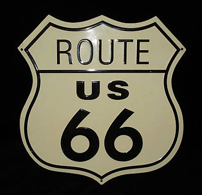 Digital Art - Route Us 66 Metal Sign by Marvin Blaine
