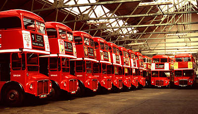 Routemasters Art Print by John Topman