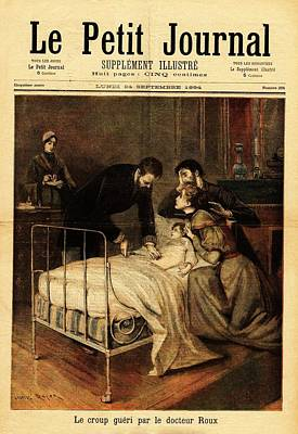 Roux Treating Croup Art Print by National Library Of Medicine