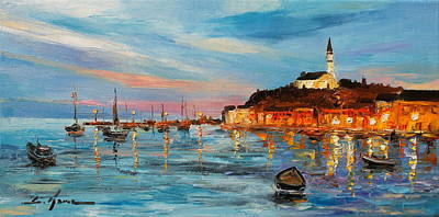 Painting - Rovanij Harbour by Luke Karcz