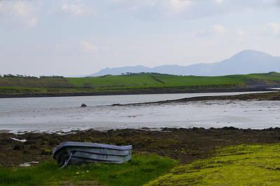 Rowboat Digital Art - Row Boat At Low Tide - County Mayo Ireland by Bill Cannon
