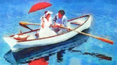 Row Boat Digital Art - Row Boat by Catherine Lott