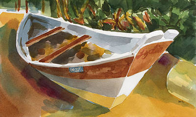 Painting - Row Boat In Hawaii by Pablo Rivera