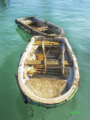 Row Boat Digital Art - Row Boat In Tow by KJ DePace